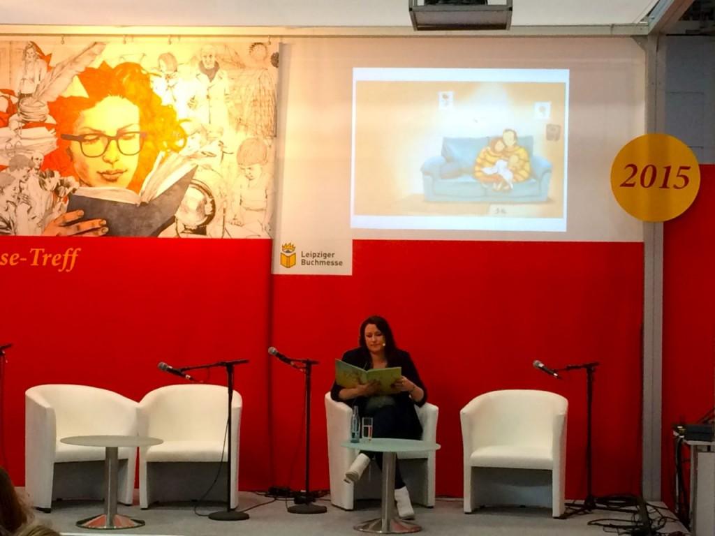 Britta Sabbag auf Leipziger Buchmesse © Stefanie Roloff