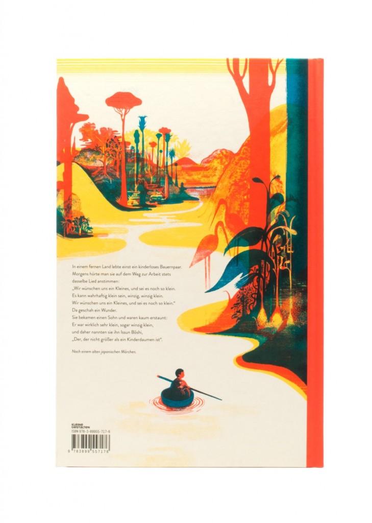 """Cover """"Issun Bôshi"""", Rückseite © Kleine Gestalten"""